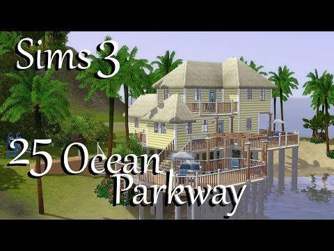 Sims 3: 25 Ocean Parkway Aluna Island~Speed Build