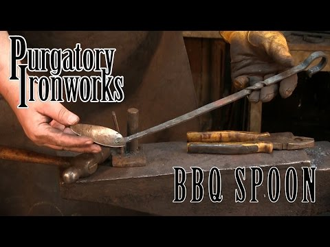 Forging a Barbeque Spoon