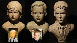 james cook sculpture demo aging self portrait sculpture in clay