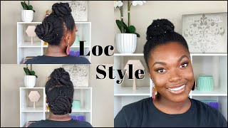 HOW TO: 2 Bun Pin-up Style On THICK Locs | Tutorial | Naomi Onlae