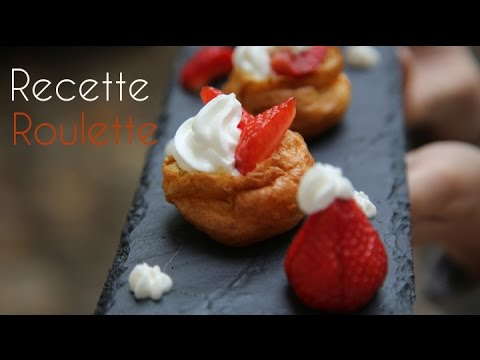 Choux garnis : fraises et chantilly !
