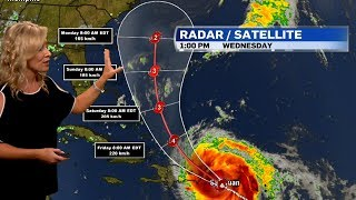 Tracking the path of Hurricane Maria and Tropical Storm Jose
