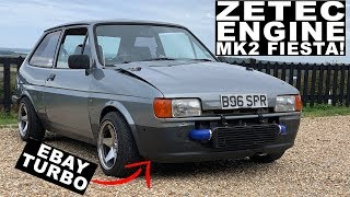garage built ZETEC ENGINE, EBAY TURBO'D MK2 FIESTA! - Ford Fiesta MK2 Zetec Turbo Review