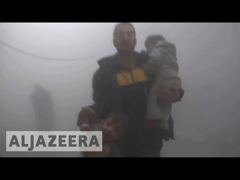 Syria's war: Scores dead in air strikes on Ghouta