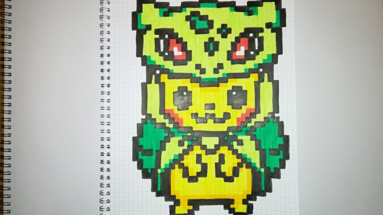 Pixel Art Pikachu Cosplay Bulbizarre