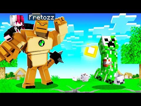 ช่วยแฟน!! แอบแปลงร่างเป็น  ฮิวมังกาซอร์ ในการ์ตูน Ben10 โคตรโหด!! (Minecraft)