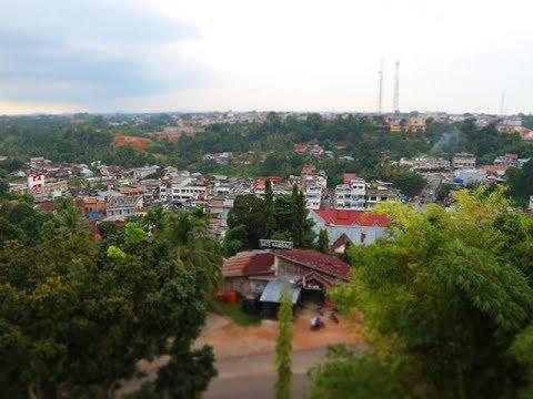 Pesona Kota Bangko dari Atas Jam Gento (kab. merangin Prov. Jambi)