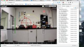 AR.Drone heading control, optical flow tracking, webflight, realtime vision, visual servoing
