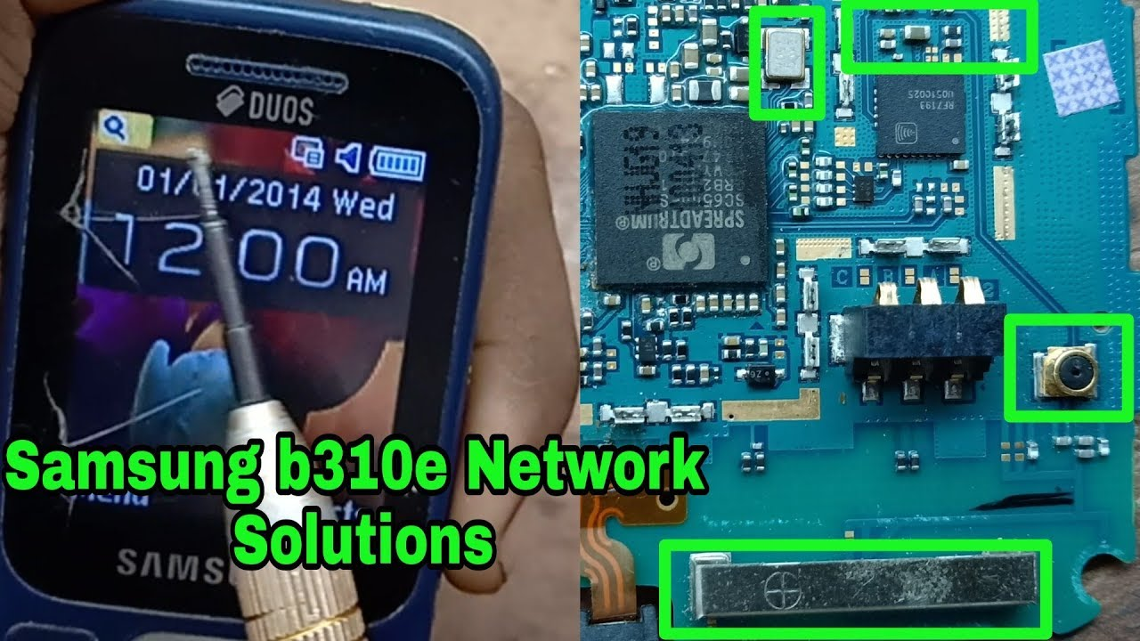 Samsung B310e Network Problem Solution Youtube