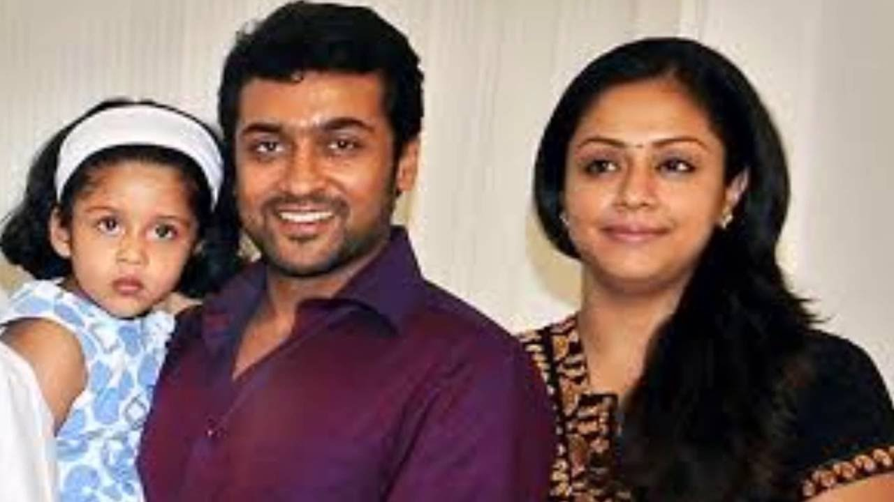 Tamil Actor Surya And His Wife Jyothika Family Photos Youtube