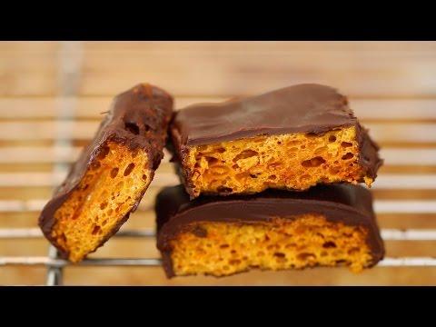 Homemade Honeycomb & Cadbury Crunchie Bars Recipe - Gemma