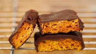 Homemade Honeycomb & Cadbury Crunchie Bars Recipe - Gemma