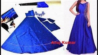 floor length gown cutting पूरी लम्बाई  का गाउन बनाना सीखिए आसान तरीके से