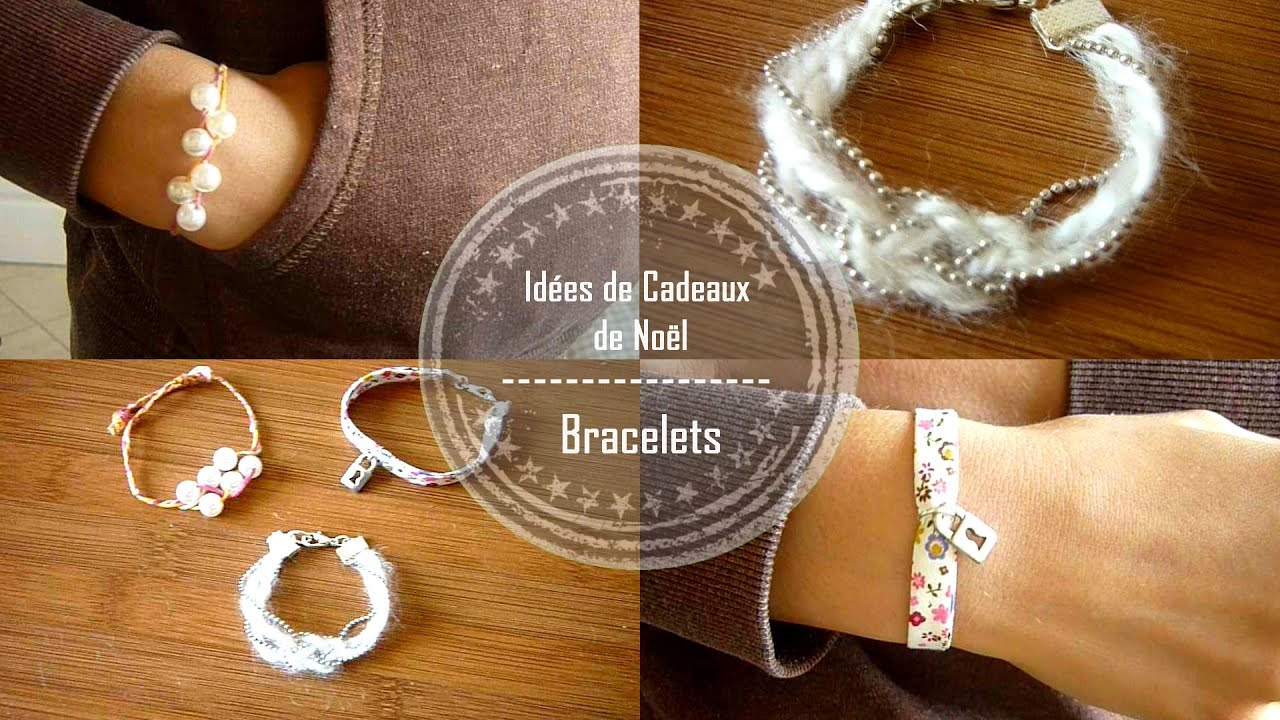 diy id es de cadeaux de no l faits main les bracelets claire youtube. Black Bedroom Furniture Sets. Home Design Ideas