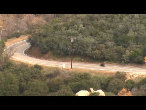 Police Chase a High Performance Motorcycle  - Mulholland Hwy, CA