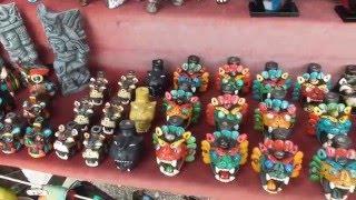 Venta de Artesanías en Chichen Itzá, Yucatán, México