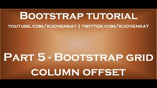 Bootstrap grid column offset thumbnail
