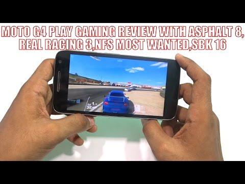 हिन्दी |Moto G4 Play Racing Games Review in Hindi (Asphalt 8,NFS Most Wanted,Real Racing 3,SBK 16)