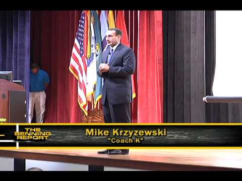 Coach K Gives Benning Soldiers a Pep Talk - YouTube