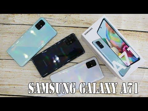 Samsung Galaxy A71 colors unboxing | camera, fingerprint, face unlock tested
