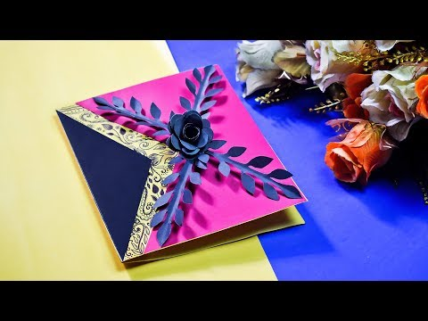 Diy Handmade Greeting Card Making Tutorial | Paper Greeting Card Idea