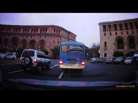 Driving In Yerevan Streets. November 2018.