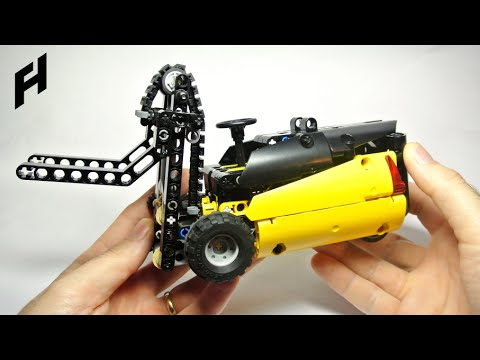 How To Build The Lego Technic Forklift Moc Youtube