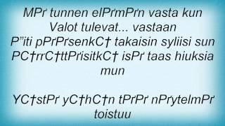 Eppu Normaali - Kun Valot Tulevat Vastaan Lyrics