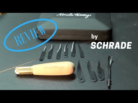 Uncle Henry Wood Carving Set by SCHRADE. EXTREMELY SHARP!!!