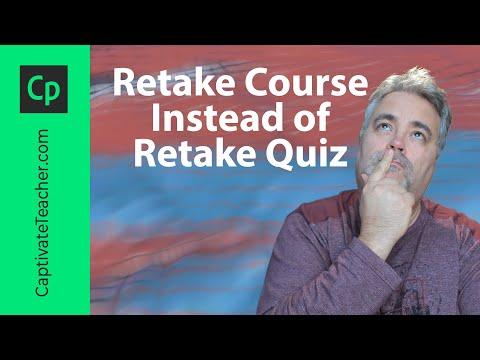 Retake Course Instead of Retake Quiz in Your Adobe Captivate Project
