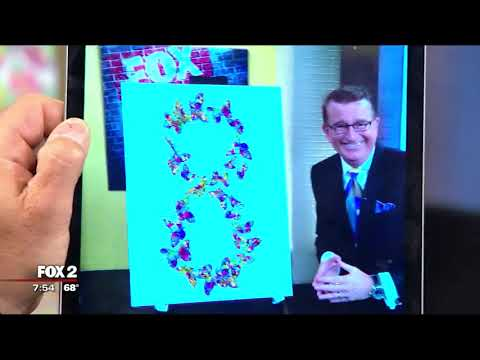 Artist Tim Yanke Appears on Detroit's Fox 2 News
