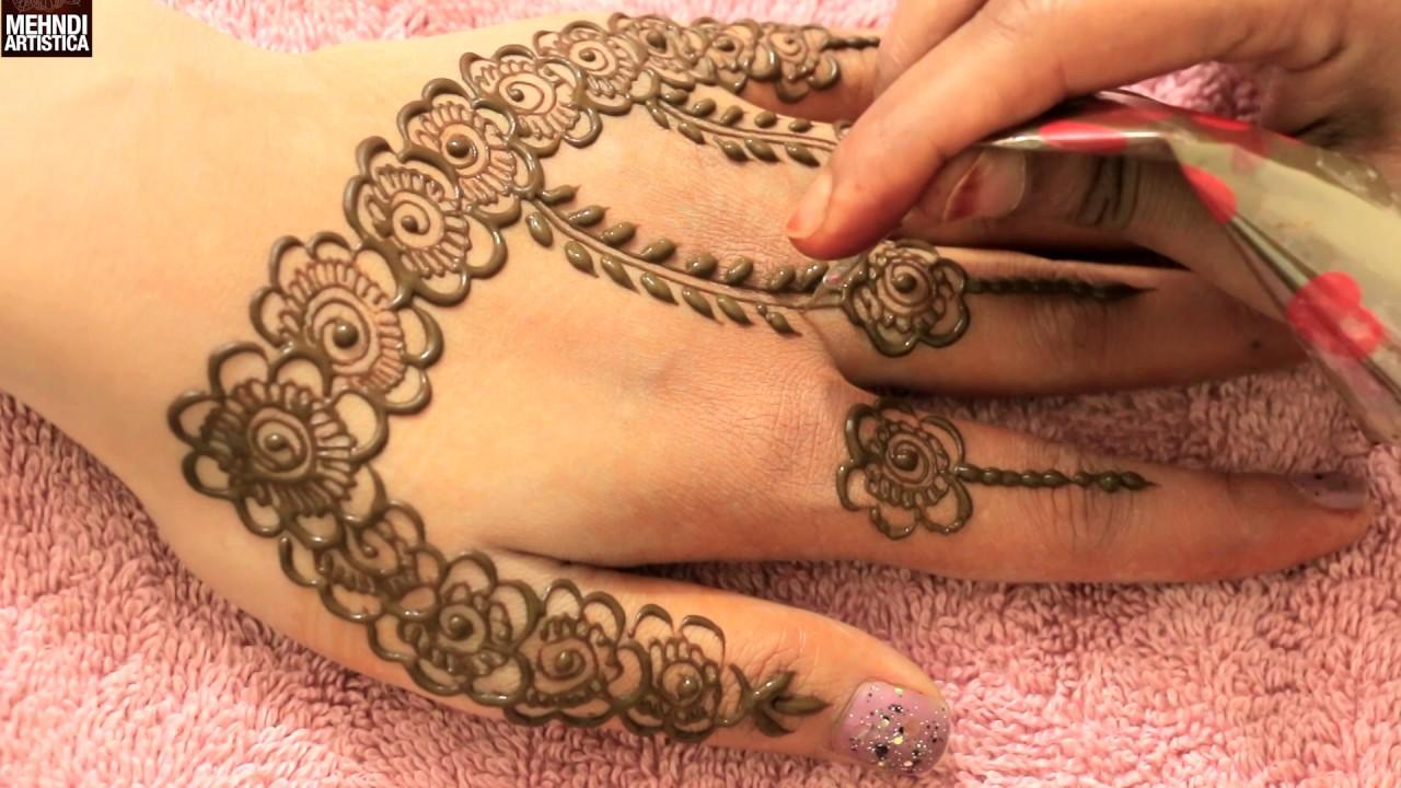 Mehndi Patterns And Designs : Easy simple gulf roses bel mehndi patternsyep by step beautiful