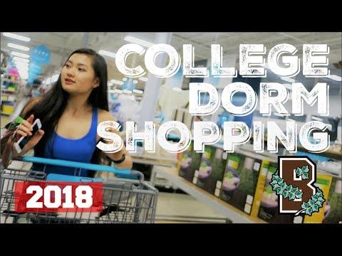 LET'S GO COLLEGE DORM SHOPPING 2018 [vlog]   Brown University