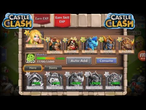 Castle Clash Consuming 217K Might Account With 42 Double Evolved Heroes
