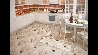 Плитка на Пол - Кухня - дизайн - фото 2018 / Tile on the Floor Kitchen Design Photo