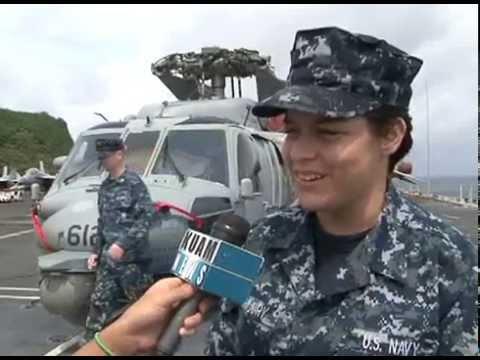 6,500 sailors aboard USS George Washington enjoying Guam