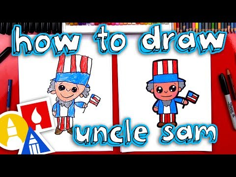 How To Draw Uncle Sam Cartoon
