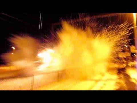 Thumbnail: *MUST SEE!* 100+MPH Amtrak Train Hits Snow Bank! (was not expecting this!)