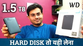 Western Digital Elements 1 5 TB Portable External Hard Drive Unboxing HARD DISK
