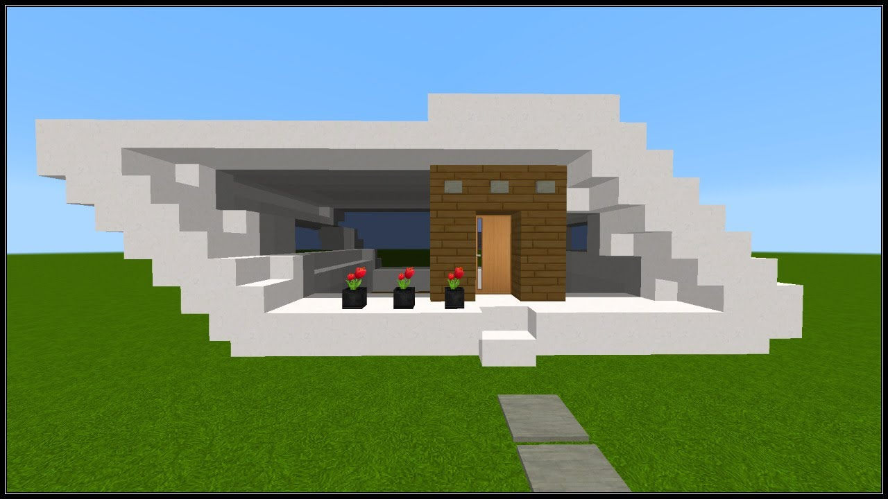 minecraft tuto construction d 39 une petite maison moderne youtube. Black Bedroom Furniture Sets. Home Design Ideas