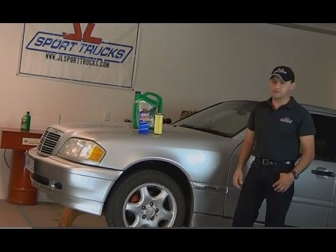 2000 mercedes benz c230 oil change youtube. Black Bedroom Furniture Sets. Home Design Ideas