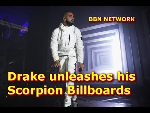 Drake unleashes his Scorpion Billboards