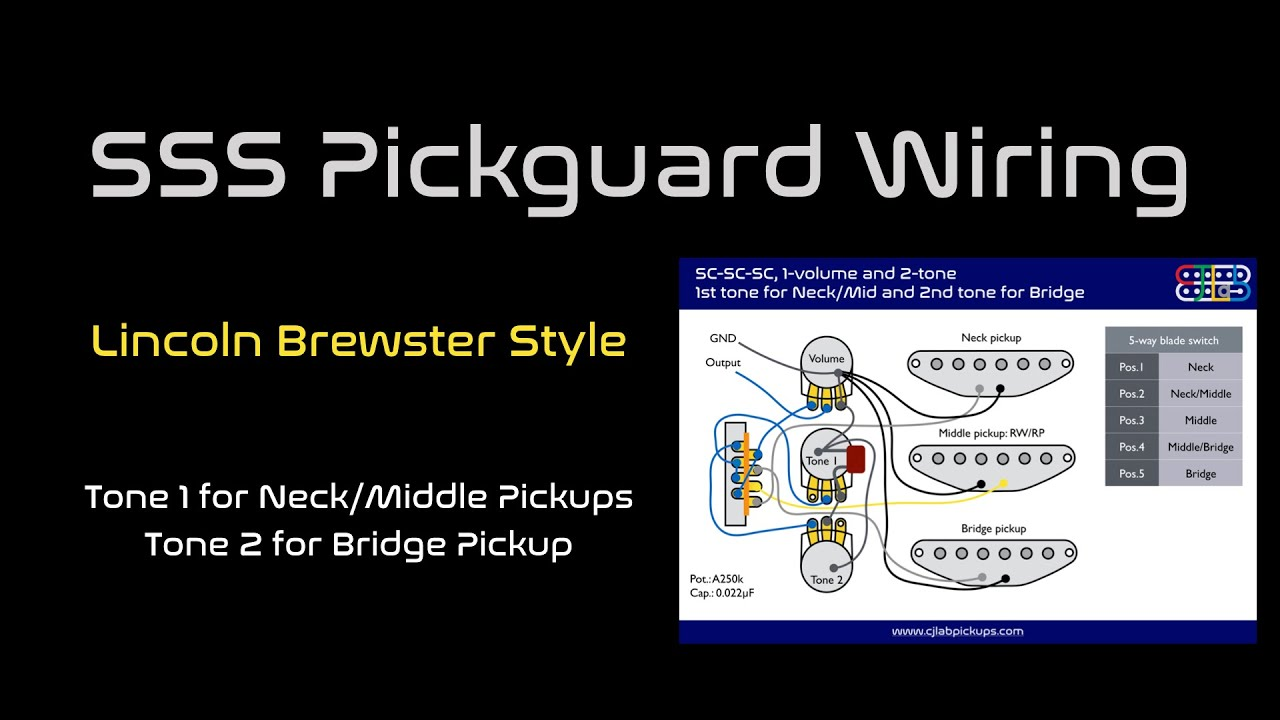 Strat Sss Pickguard Wiring  Lincoln Brewster Style