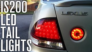 LED TAIL LIGHT INSTALL | Lexus IS200 Car Vlog!