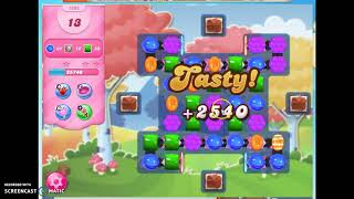 Candy Crush Level 1696 Audio Talkthrough, 2 Stars 0 Boosters