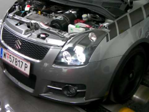 suzuki swift sport dyno run great sound youtube. Black Bedroom Furniture Sets. Home Design Ideas