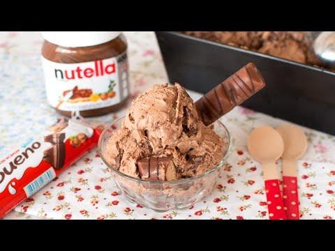 Helado de Nutella y Kinder Bueno sin Heladera