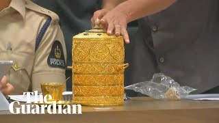 Stolen gold tiffin box which alleged thieves 'ate their lunch from' thumbnail