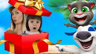 Мой Говорящий Том 2 и друзья в РЕАЛЬНОЙ ЖИЗНИ | Мама и Арина открывают подарки