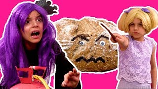 MAGICAL TRAIL OF BREADCRUMBS🍞Malice Creates A Bread Monster! - Princesses In Real Life | Kiddyzuzaa